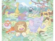 3D Fototapeta Walltastic Baby džungle 40595 | 305x244 cm Fototapety skladem