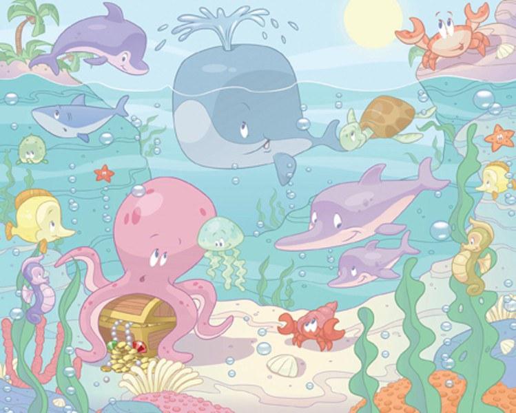 3D Fototapeta Walltastic Baby Moře 40625   305x244 cm - Fototapety skladem