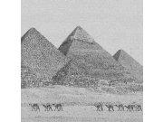 Fototapeta Egyptské pyramidy černobílá kresba L-326 | 220x220 cm Fototapety