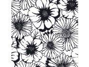 Fototapeta Květy černobílé L-337 | 220x220 cm Fototapety