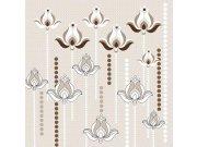 Fototapeta Hnědý květinový ornament L-367   220x220 cm Fototapety