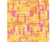 Fototapeta Růžovožluté čtverce L-394 L-394 | 220x220 cm Fototapety