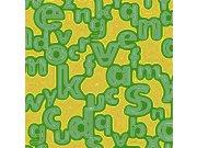 Fototapeta Zelená písmena L-419 | 220x220 cm Fototapety
