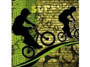 Fototapeta Zelení cyklisti L-424 | 220x220 cm Fototapety