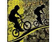 Fototapeta Žlutí cyklisti L-425 | 220x220 cm Fototapety