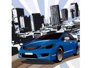 Fototapeta Modré auto L-428 | 220x220 cm Fototapety