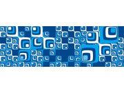 Fototapeta Modré čtverečky M-357 | 330x110 cm Fototapety