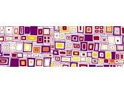 Fototapeta Fialová čtverečky M-367 | 330x110 cm Fototapety