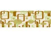 Fototapeta Hnědozelené čtverce M-376 | 330x110 cm Fototapety