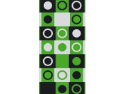 Fototapeta Zelenočerné čtverce s kruhy 2 S-407 | 110x220 cm Fototapety