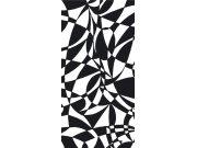 Fototapeta Černobílý abstrakt S-413 | 110x220 cm Fototapety