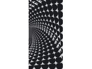 Fototapeta Černobílý 3D abstrakt S-425 | 110x220 cm Fototapety