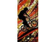 Fototapeta Červený cyklista S-428 | 110x220 cm Fototapety