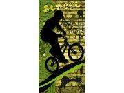 Fototapeta Zelený cyklista S-429 | 110x220 cm Fototapety