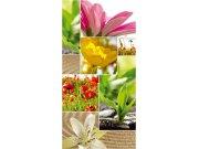 Fototapeta Koláž květin S-442 | 110x220 cm Fototapety