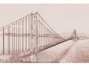 Fototapeta Golden Gate sépiová kresba XL-302 | 330x220 cm Fototapety