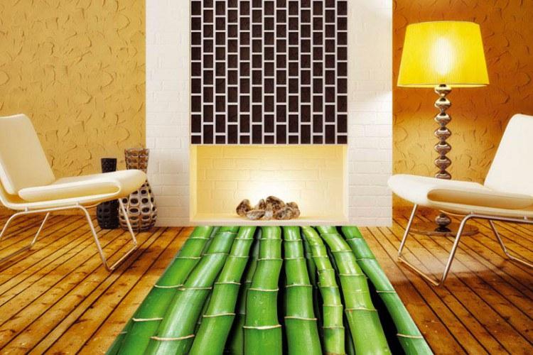 Samolepicí Fototapeta na podlahu Bambus FL-85-020 - Fototapety