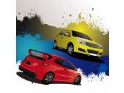 Fototapeta Žluté a červené auto L-272 | 220x220 cm Fototapety