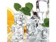 Fototapeta Ledová kostky s mátou a citrónem L-268   220x220 cm Fototapety