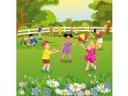 Fototapeta Děti na zahradě L-286 | 220x220 cm Fototapety