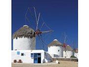 Fototapeta Větrné mlýny v Řecku L-181 | 220x220 cm Fototapety