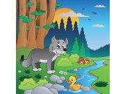 Fototapeta Vlk v lese L-281 | 220x220 cm Fototapety
