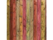 Fototapeta Červené dřevěné laťky L-163 | 220x220 cm Fototapety