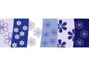 Fototapeta Modrý květinový vzor M-204 | 330x110 cm Fototapety