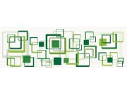 Fototapeta Zelené čtverce M-201 | 330x110 cm Fototapety