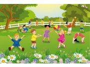 Fototapeta Děti na zahradě XL-273 | 330x220 cm Fototapety