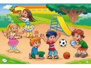 Fototapeta Děti na hřišti XL-270 | 330x220 cm Fototapety