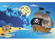 Fototapeta Pirátská loď XL-266 | 330x220 cm Fototapety