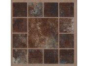 Samolepicí podlahové pvc čtverce hnědý mramor se vzorem Samolepící dlažba