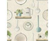 Omyvatelná tapeta kuchyňský vzor Tiles More 307108 | lepidlo zdarma Rasch