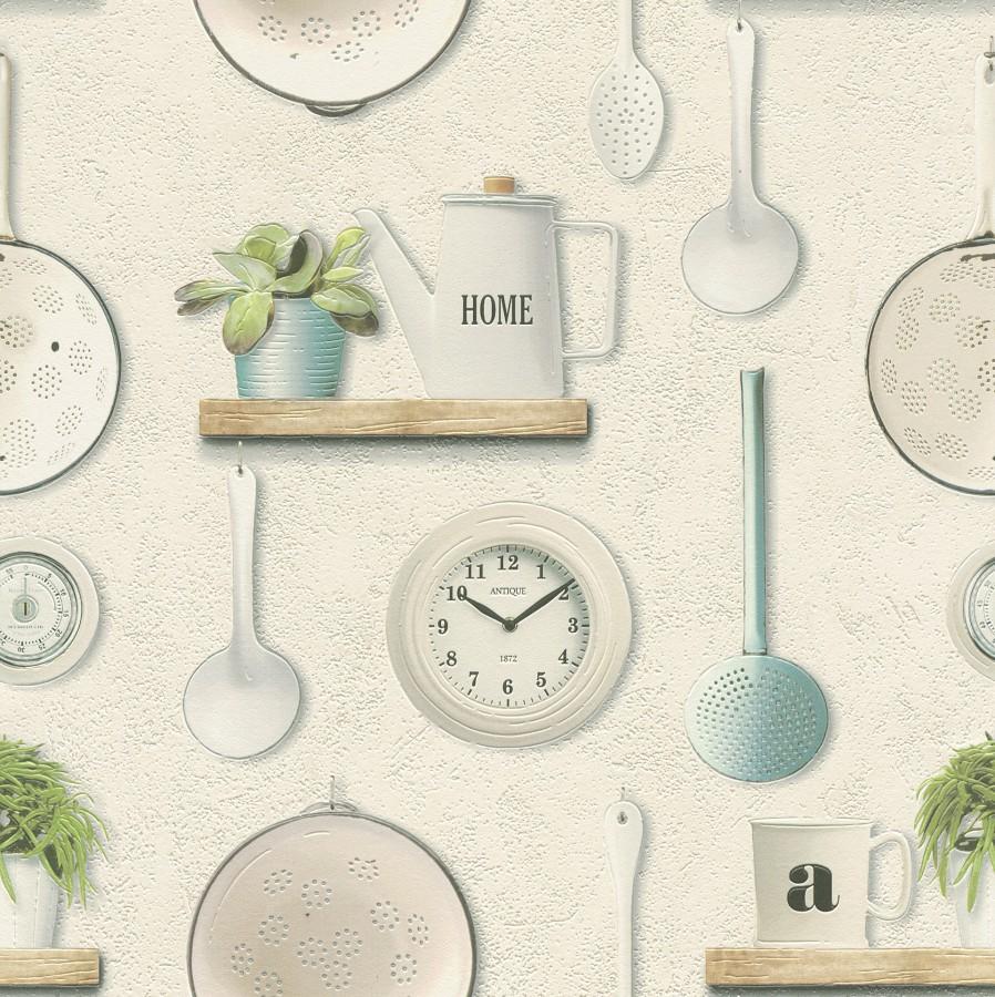 Omyvatelná tapeta kuchyňský vzor Tiles More 307108 | lepidlo zdarma - Rasch