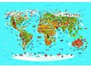 Fototapeta AG Mapa Světa FTNS-2441 | 360x270 cm Fototapety