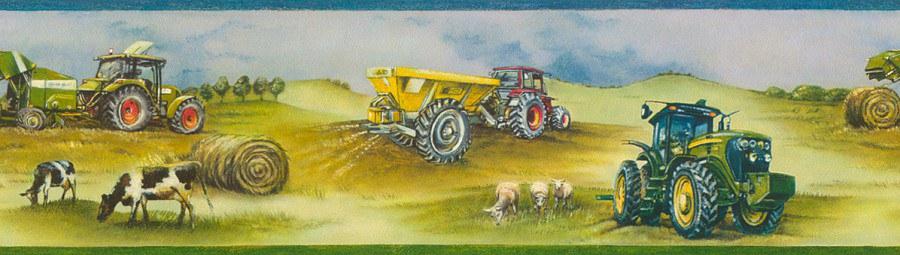 Bordura Kids & Teens traktor 293302 - Rasch