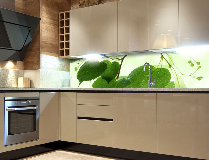 Samolepicí Fototapeta do kuchyně Green Leaves KI-180-010 - Fototapety