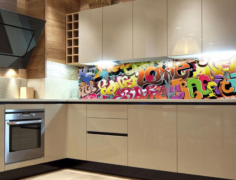 Fototapeta do kuchyně Graffiti KI-260-020 - Fototapety