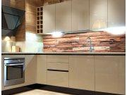 Fototapeta do kuchyně Dřevěná zeď KI-260-063 Fototapety skladem