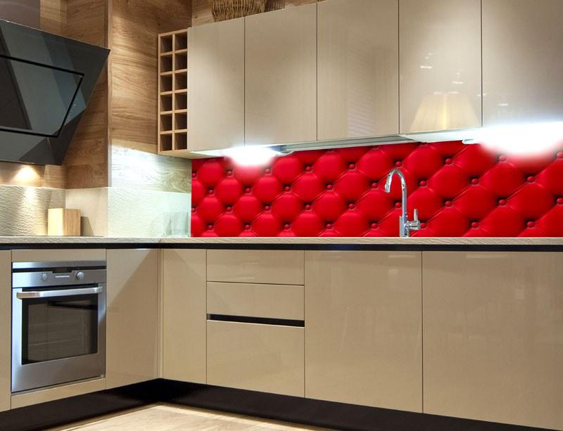 Fototapeta do kuchyně Červený potah KI-260-070 - Fototapety