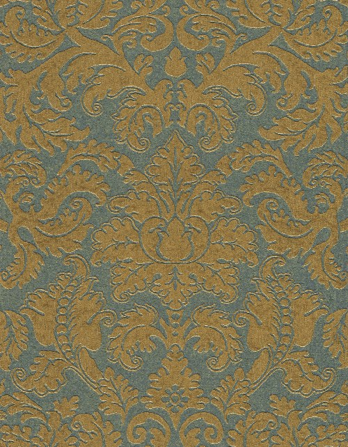 Tapeta Etro ornamenty petrolejovo zlaté 515831 | lepidlo zdarma - Rasch