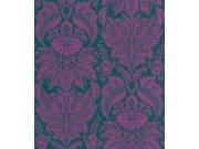 Tapeta Etro ornamenty fialovo zelené 517644 Rasch