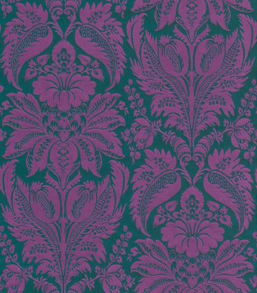 Tapeta Etro ornamenty fialovo zelené 517644 | lepidlo zdarma - Rasch