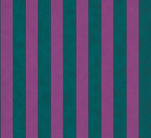Tapeta Etro pruhy fialovo zelené 517743 | lepidlo zdarma - Rasch