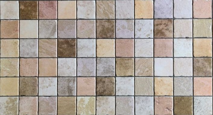 3D obkladový PVC panel mozaika hnědobéžová D0145 - 3D obkladové panely
