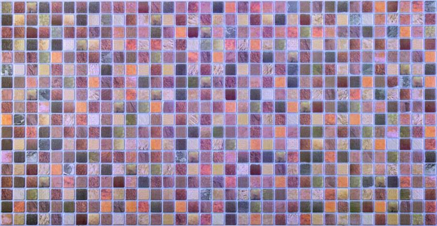 3D obkladový PVC panel mozaika hnědá D0014 - 3D obkladové panely