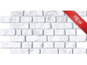 3D obkladový PVC panel bílá cihlová zeď 3D obkladové panely
