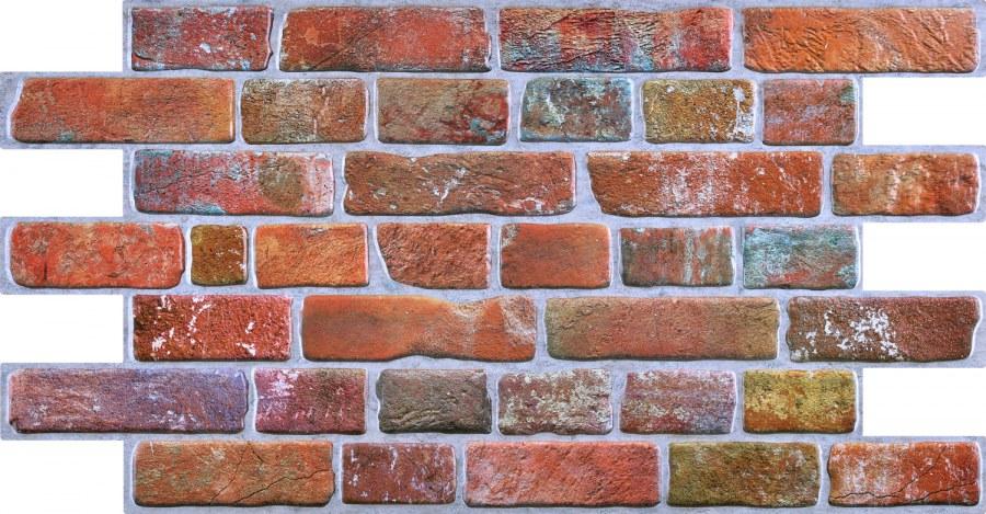3D obkladový PVC panel imitace cihlová zdi červená - 3D obkladové panely