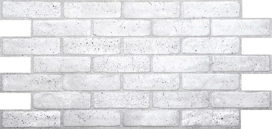 3D obkladový PVC panel imitace cihlová zdi šedá - 3D obkladové panely